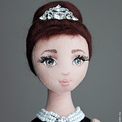 Куклы и игрушки handmade. Livemaster - original item Holly, the author`s textile doll, Breakfast at Tiffany`s, Audrey Hepburn. Handmade.