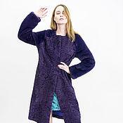 """Одежда ручной работы. Ярмарка Мастеров - ручная работа шуба """"Фиолетовый каракуль и норка"""". Handmade."""