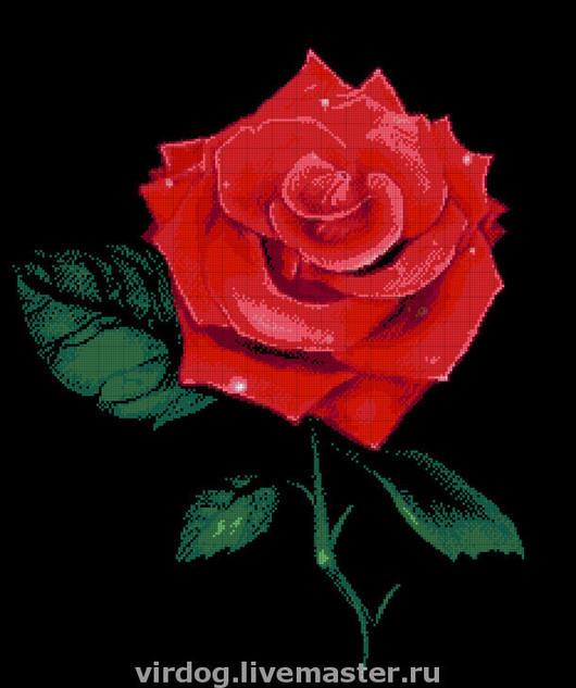 """Вышивка ручной работы. Ярмарка Мастеров - ручная работа. Купить Набор для вышивки бисером   """"Роза"""". Handmade. Роза, бисер чешский"""