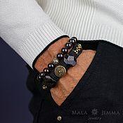 Сувениры и подарки handmade. Livemaster - original item With Garnet Leather Men`s Bracelet Raw Garnet. Handmade.