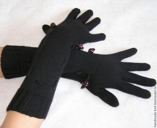 Варежки, митенки, перчатки ручной работы. Ярмарка Мастеров - ручная работа. Купить Перчатки черные. Handmade. Черный, подарок девушке