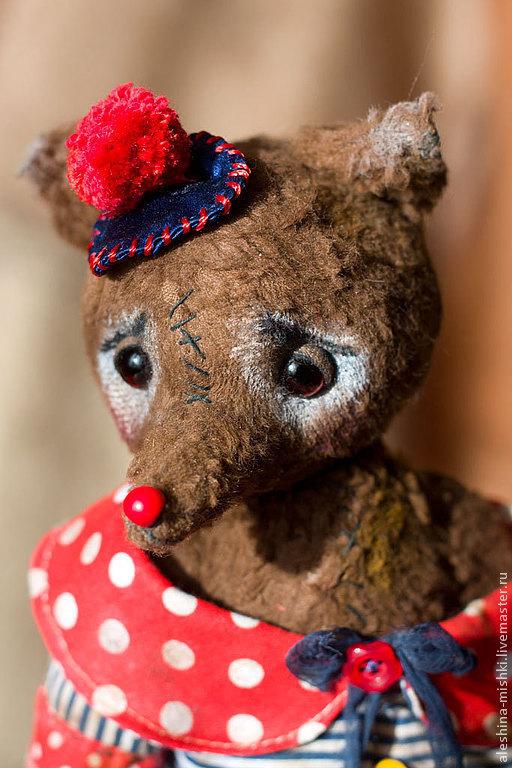 Мишки Тедди ручной работы. Ярмарка Мастеров - ручная работа. Купить Дидье. Handmade. Коричневый, горошек, немецкая стружка