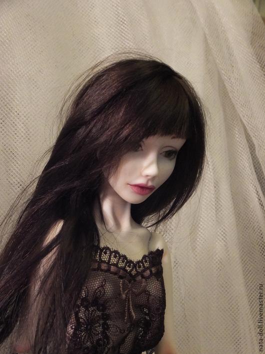 Коллекционные куклы ручной работы. Ярмарка Мастеров - ручная работа. Купить шарнирная кукла из фарфора. Handmade. Коричневый, кукла в подарок