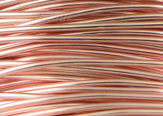 Проволока 0.81мм медная цвета розовое золото 6 м/упак BEADSMITH (США)