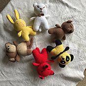 Куклы и игрушки handmade. Livemaster - original item A set of animals (Cat, Panda, Bunny, monkey, bear,Fox. Handmade.