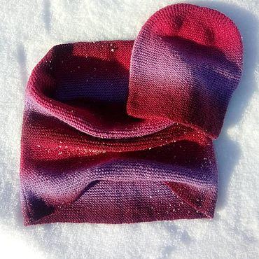 Аксессуары handmade. Livemaster - original item Set Blum (in 1oborot Snood cap). Handmade.