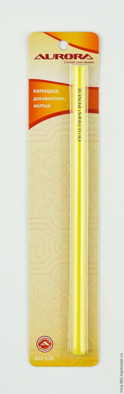 Шитье ручной работы. Ярмарка Мастеров - ручная работа. Купить Карандаш для квилтинга желтый,синий. Handmade. Желтый, синий, маркер