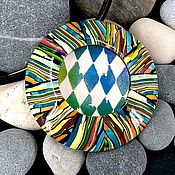 Украшения handmade. Livemaster - original item Pendant from polymer clay - Boho-UFO. Illusion v2.0. Handmade.