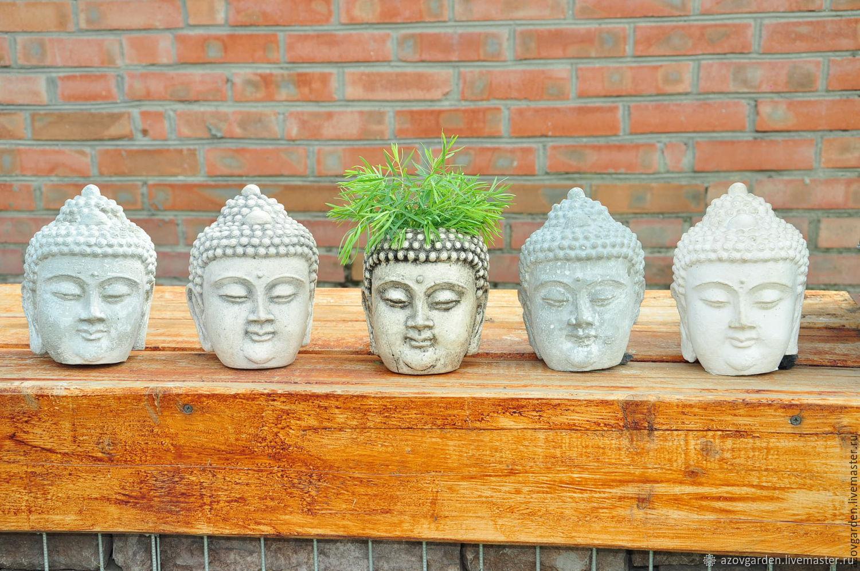 Голова Будды из бетона, под бронзу, глину, камень состаренная – заказать на Ярмарке Мастеров – 7MWGNRU | Статуэтки, Азов