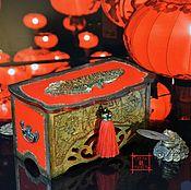 Money magnet handmade. Livemaster - original item Box for money