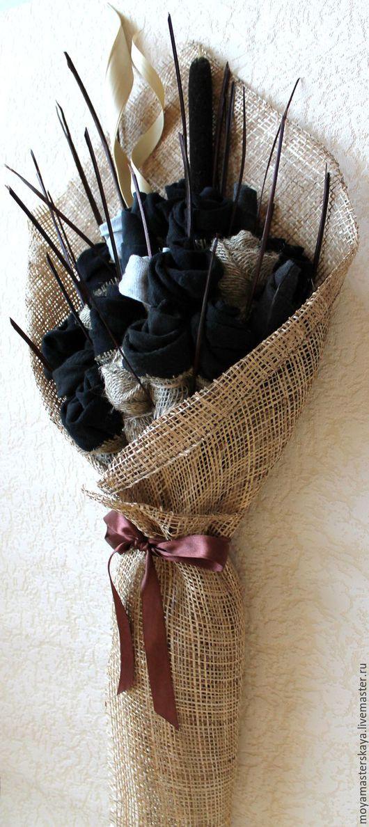 """Подарки для мужчин, ручной работы. Ярмарка Мастеров - ручная работа. Купить Букет из носков с рогозом """"Лидер"""". Handmade. Букет из носков"""