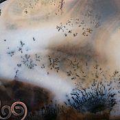 Украшения ручной работы. Ярмарка Мастеров - ручная работа Осенние ТУМАНЫ  медное колье с пейзажным агатом. Handmade.