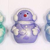 Косметика ручной работы handmade. Livemaster - original item Soap Snowman small. Handmade.