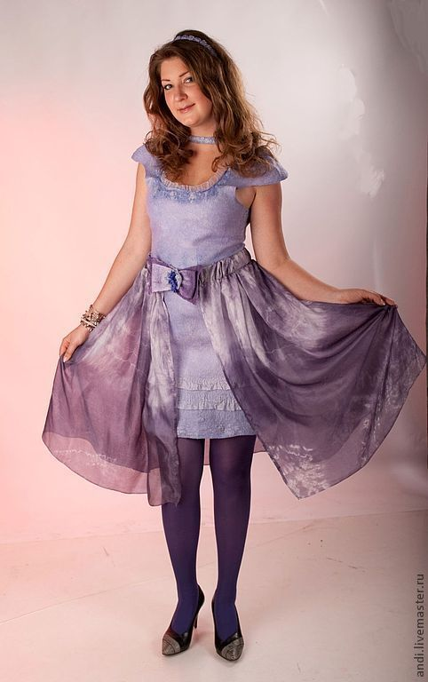 """Платья ручной работы. Ярмарка Мастеров - ручная работа. Купить Платье """"Сирень"""". Handmade. Мокрое валяние, сирень, платье вечернее"""