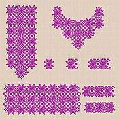 """Материалы для творчества handmade. Livemaster - original item Дизайны машинной вышивка набор """"Монохром"""" для женской вышиванки. Handmade."""