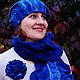 """Комплекты аксессуаров ручной работы. Ярмарка Мастеров - ручная работа. Купить Валяный комплект """"blue"""". Handmade. Синий, войлочный комплект"""