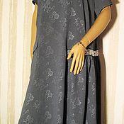Одежда handmade. Livemaster - original item Dress grey silk. Handmade.