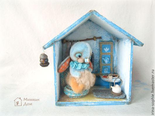Кукольный дом ручной работы. Ярмарка Мастеров - ручная работа. Купить Дом для зайчика Тедди. Миниатюра. Земляника. Handmade. Комбинированный