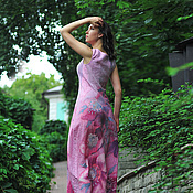 """Одежда ручной работы. Ярмарка Мастеров - ручная работа Валяное платье из коллекции """"Райский сад"""". Handmade."""