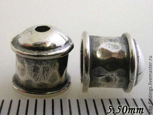 Для украшений ручной работы. Ярмарка Мастеров - ручная работа. Купить Концевики большие серебряные литые на 5.5мм  4262. Handmade.