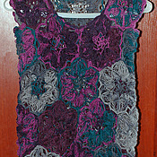 Одежда ручной работы. Ярмарка Мастеров - ручная работа Жилет цветочная невесомость. Handmade.