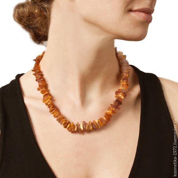 The amber healing beads raw natural stone, Necklace, Kaliningrad,  Фото №1