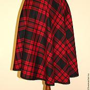 Одежда handmade. Livemaster - original item Skirt in a cage. Handmade.