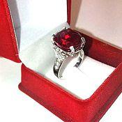 Украшения handmade. Livemaster - original item Ring with ruby and diamonds. Handmade.