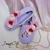 Обувь ручной работы. Ярмарка Мастеров - ручная работа Тапочки с орхидеями-2. Handmade.
