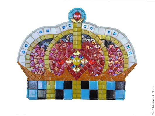 Подвески ручной работы. Ярмарка Мастеров - ручная работа. Купить Корона из мозаики. Handmade. Комбинированный, корона в подарок