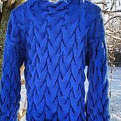 Одежда handmade. Livemaster - original item Sweater cornflower, cotton. Handmade.