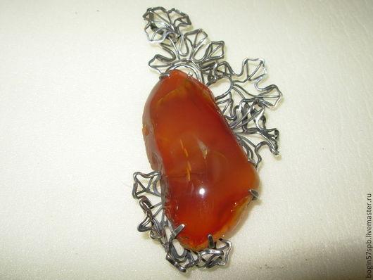 """Кулоны, подвески ручной работы. Ярмарка Мастеров - ручная работа. Купить Кулон """"Осень"""" с сердоликом. Handmade. Оранжевый"""