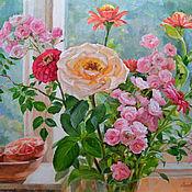 Картины и панно handmade. Livemaster - original item Pictures: Pink bouquet. Handmade.