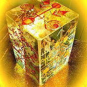 """Фен-шуй и эзотерика ручной работы. Ярмарка Мастеров - ручная работа Куб - Стелла """"Лидер& Гений """",с глифами, рунами, УСИЛЕННЫЙ. Handmade."""