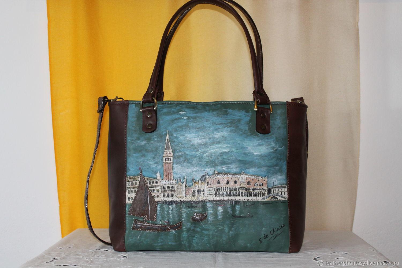 fbdbf7522043 Женские сумки ручной работы. Ярмарка Мастеров - ручная работа. Купить  Кожаная сумка коричневая морской ...