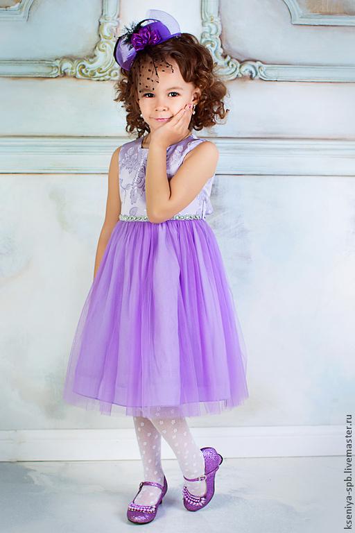 Одежда для девочек, ручной работы. Ярмарка Мастеров - ручная работа. Купить Платье нарядное, детское. Handmade. Бледно-сиреневый