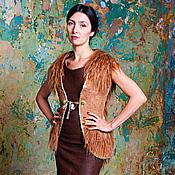 Одежда handmade. Livemaster - original item Handmade Felted vest Golden fleece. Handmade.