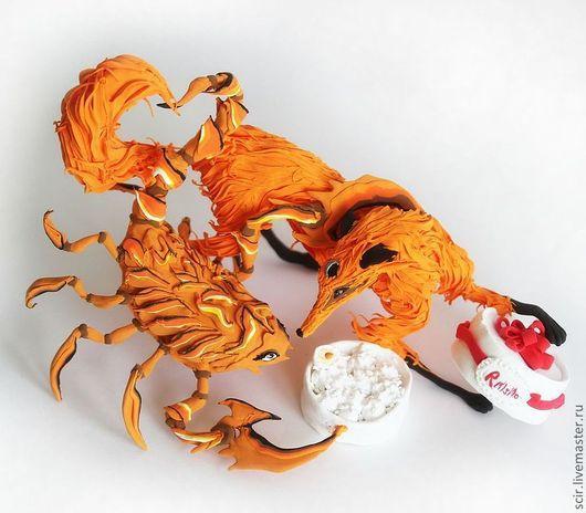 """Подарки для влюбленных ручной работы. Ярмарка Мастеров - ручная работа. Купить Фигурка, композиция """"Влюбленные"""" (подарок девушкам; рыжий цвет). Handmade."""