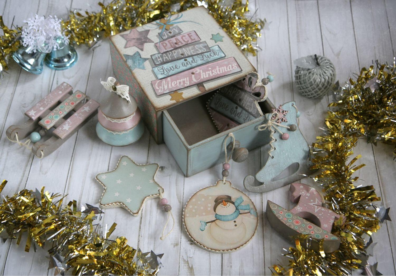 Box Christmas toy Merry Cristmas. Box decoupage, Christmas decorations, Khimki,  Фото №1