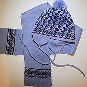 Работы для детей, ручной работы. Ярмарка Мастеров - ручная работа Детские шапка и шарф. Handmade.