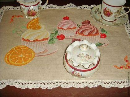 Кухня ручной работы. Ярмарка Мастеров - ручная работа Вышитая салфетка Dolce Vita. Handmade.
