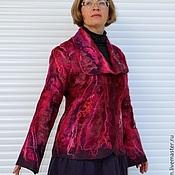 """Одежда ручной работы. Ярмарка Мастеров - ручная работа Жакет валяный """"Ягодка моя"""". Handmade."""