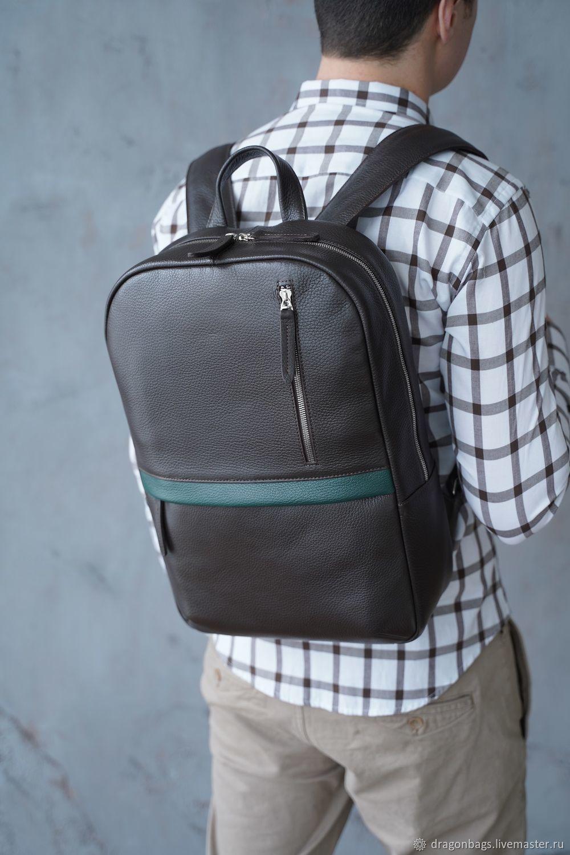Men's leather backpack 'Tayler' (Brown), Backpacks, Yaroslavl,  Фото №1