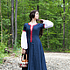 """Платья ручной работы. Средневековое льняное платье """"Незабудка"""". Berkanar Studio. Интернет-магазин Ярмарка Мастеров. Однотонный, льняное платье"""