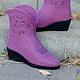 Сапоги из войлока `Cowgirl Boots`