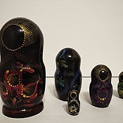 Матрешки ручной работы. Ярмарка Мастеров - ручная работа Стилизованная матрешка в темных тонах. Handmade.