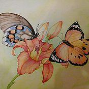 Картины и панно ручной работы. Ярмарка Мастеров - ручная работа Бабочки. Handmade.