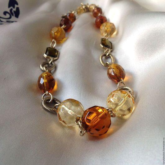 Винтажные украшения. Ярмарка Мастеров - ручная работа. Купить Ожерелье MONET с крупными бусинами, винтаж. Handmade. Винтажное украшение