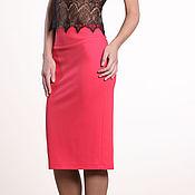 Одежда ручной работы. Ярмарка Мастеров - ручная работа 165: классическая юбка-карандаш из джерси, юбка с завышенной талией. Handmade.