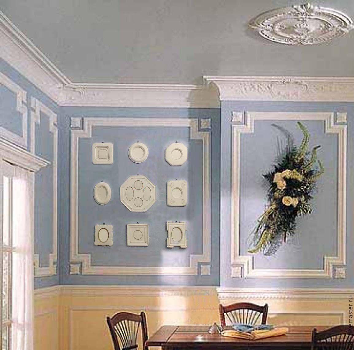 Молдинги для стен: 40 фото лучших идей декор комнаты 26